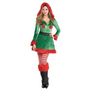 🆕 Sassy Elf Women's Costume Green - Amscan